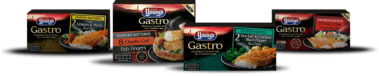 Selection of produts from the Young's Gastro product range.
