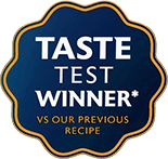 Taste test winner vs our previous recipe