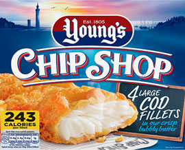 Young's Chip Shop 4 Large Cod Fillets