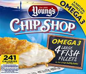 Young's Chip Shop Omega 3 4 Large Fish Fillets