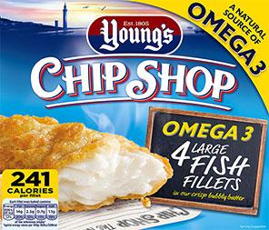 Young's Chip Shop Omega 3 4 Large Fish Fillets