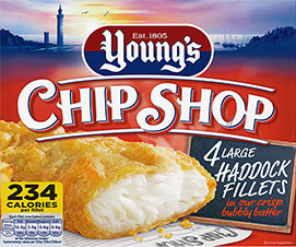 Young's Chip Shop 4 Large Haddock Fillets