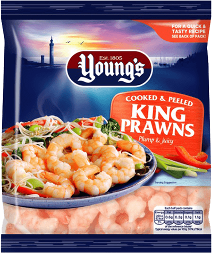 Cooked & Peeled King Prawns