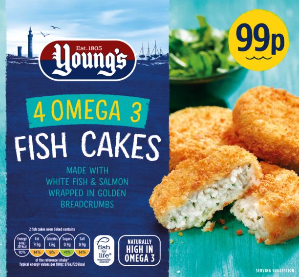 4 Breaded Omega 3 Fish Cakes