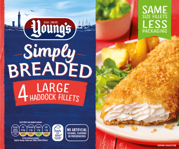 Simply Breaded 4 Large Haddock Fillets