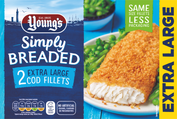 Simply Breaded 2 Extra Large Cod Fillets