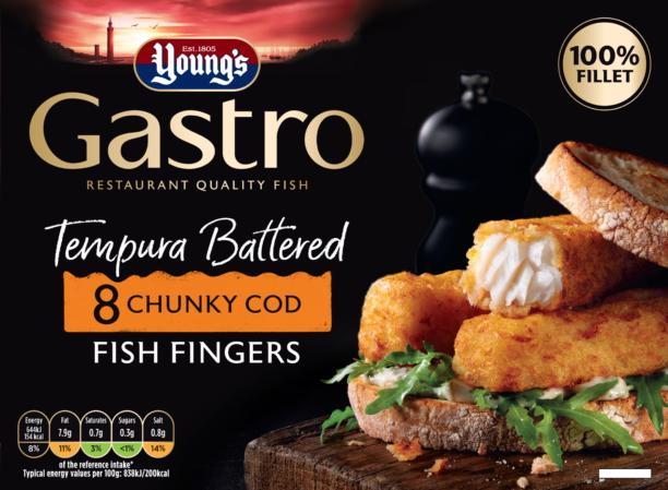 8 Tempura Battered Chunky Cod Fish Fingers