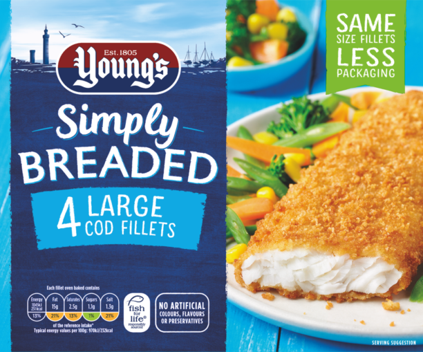 Simply Breaded 4 Large Cod Fillets