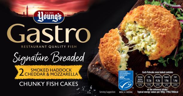 2 Signature Breaded Smoked Haddock, Cheddar & Mozzarella Chunky Fish Cakes